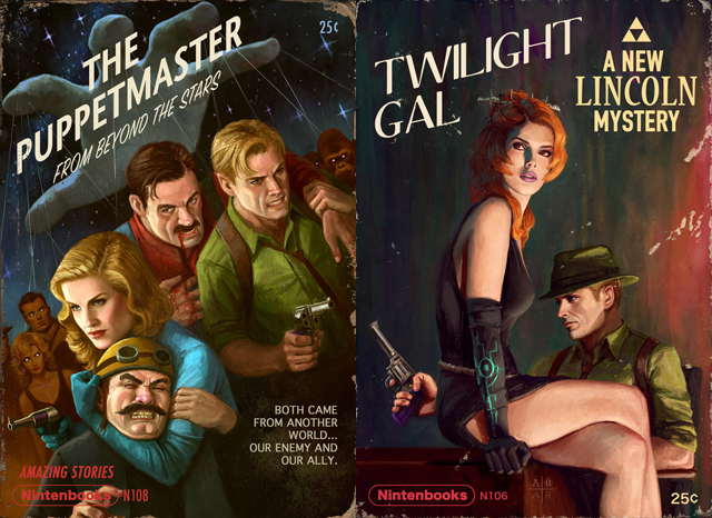 Video Game Pulp Fiction Covers