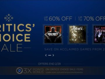 Sony's Critics' Choice Sale Launches Today