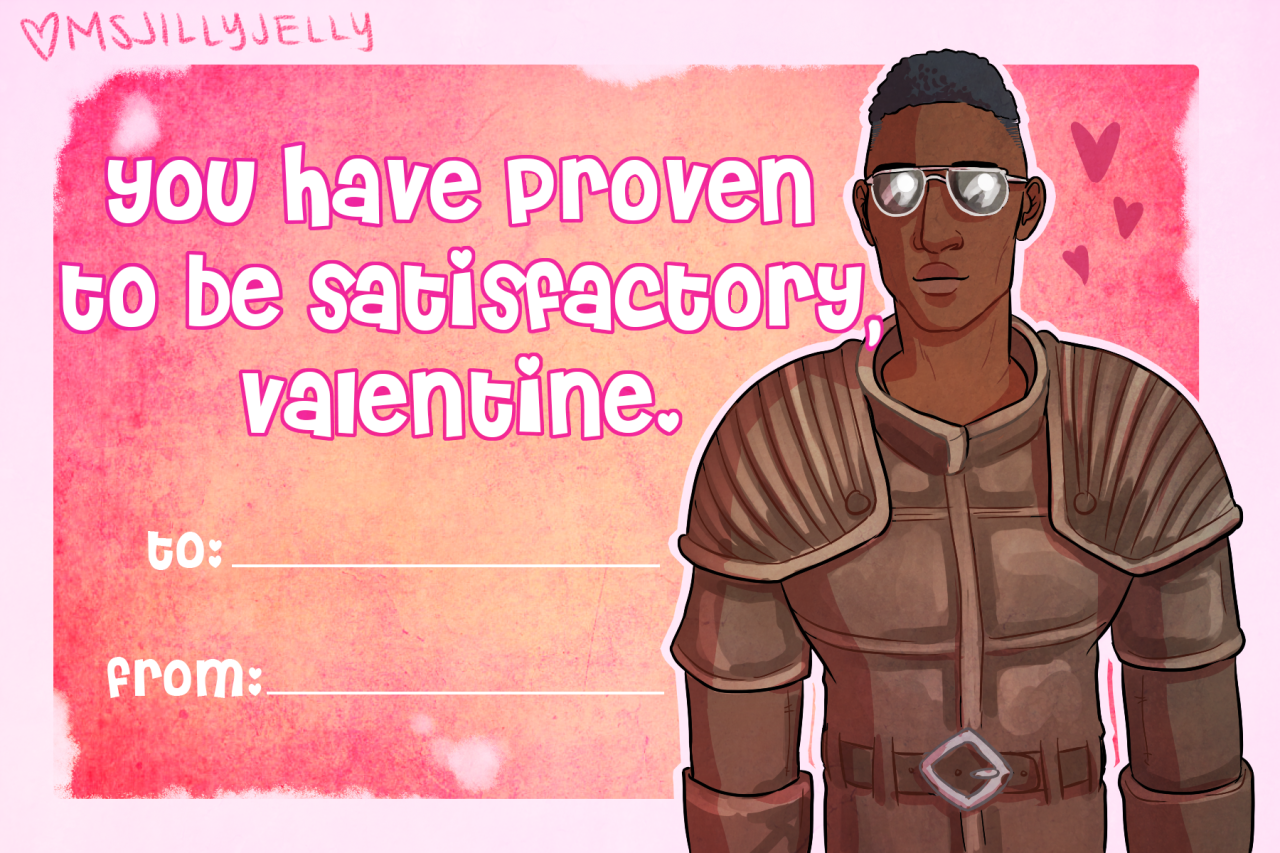 Happy Nick Valentines Day Get Your Fallout 4 Cards Now