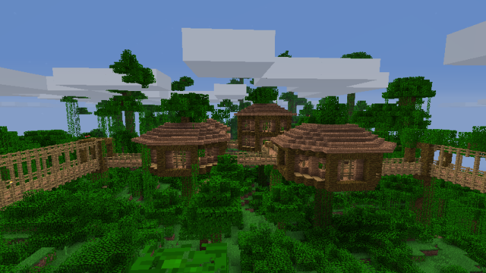 Minecraft Building Ideas Treehouse