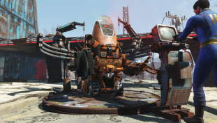 Fallout 4 Automatron's Robobrains Face Off Against The Brotherhood of Steel In Epic Battle