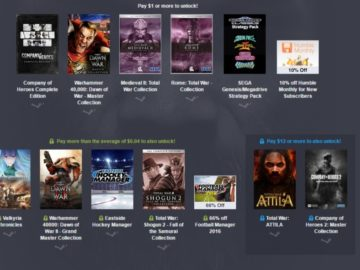 Pay What You Want For Humble Sega Strategy Bundle