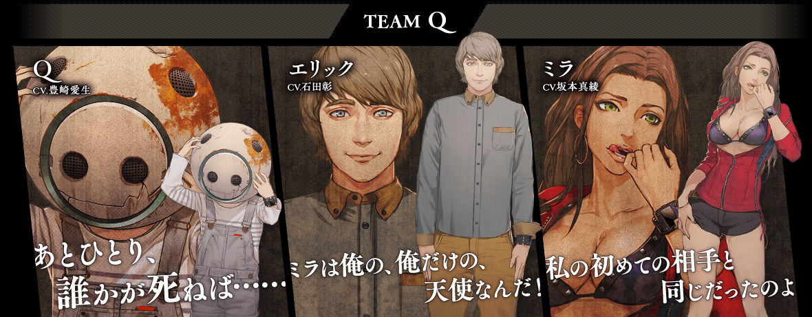 Zero Time Dilemma Team Q