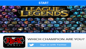 """PSA: Twitter App """"Which Champion Are You?"""" Is FAKE. Not Made by Riot Games."""