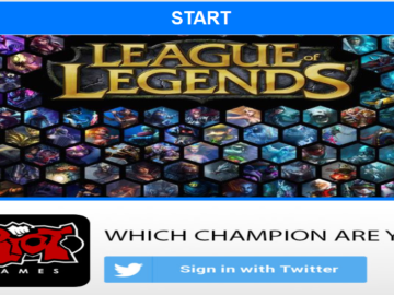 "PSA: Twitter App ""Which Champion Are You?"" Is FAKE. Not Made by Riot Games."