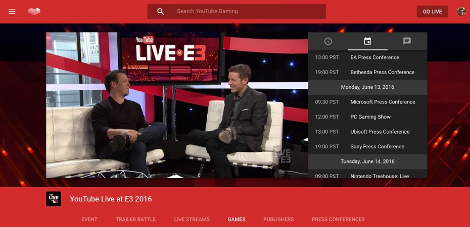 Geoff Keighley Hosting YouTube Gaming E3 Coverage