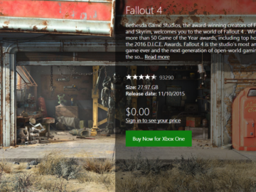 UPDATE: Fallout 4 (was) Available for Free on Xbox Store