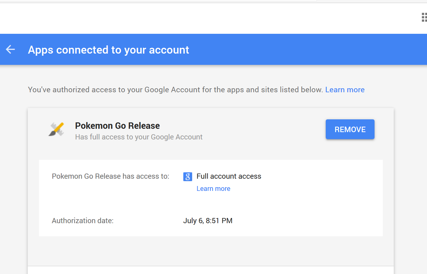 google account sign in pokemon go