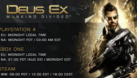 Launch Unlock Times for Deus Ex: Mankind Divided Revealed