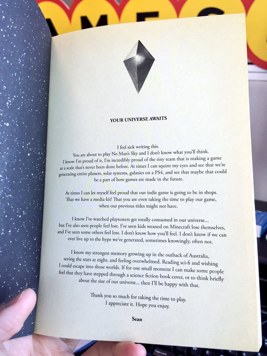 No mans sky dev sean murray included an emotional letter with nomansskyaustralianreviewnote1 spiritdancerdesigns Gallery