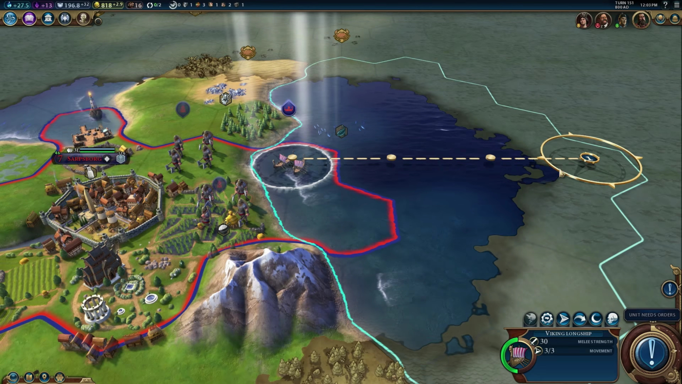 Meet The Civilization VI Leader Of Norway - Norway map game