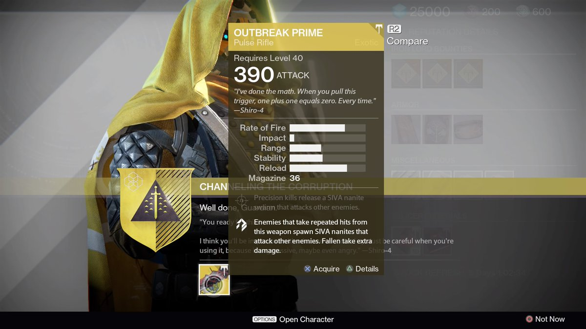 The Outbreak Prime Pulse Exotic Quest Can Only Be Unlocked By Completing An Insane Puzzle Nestled Deep In Destiny Rise Of Iron S High Level