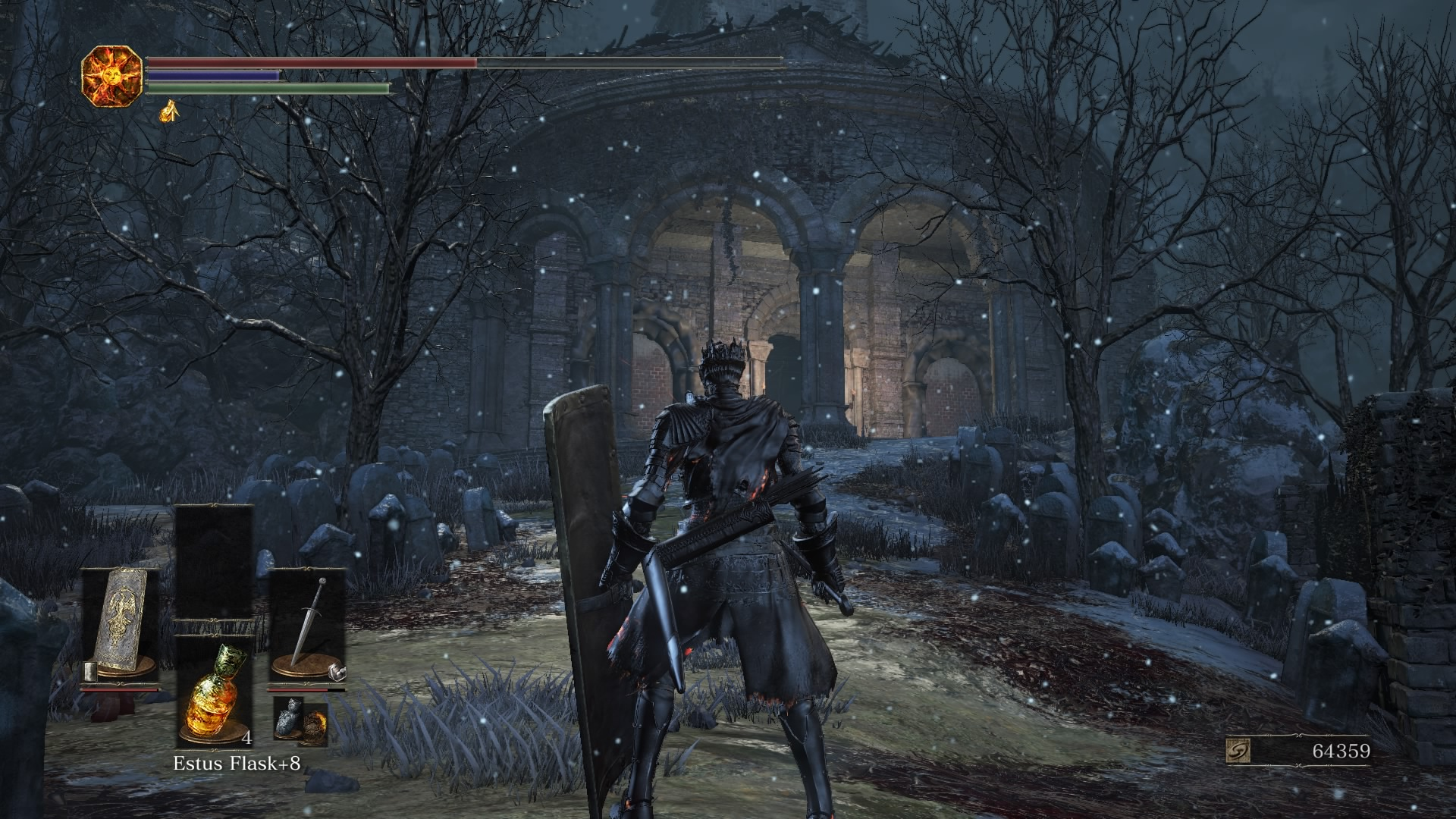 Climb to the rooftops, use the tower ladder, and open the graveyard gate to access the archive.