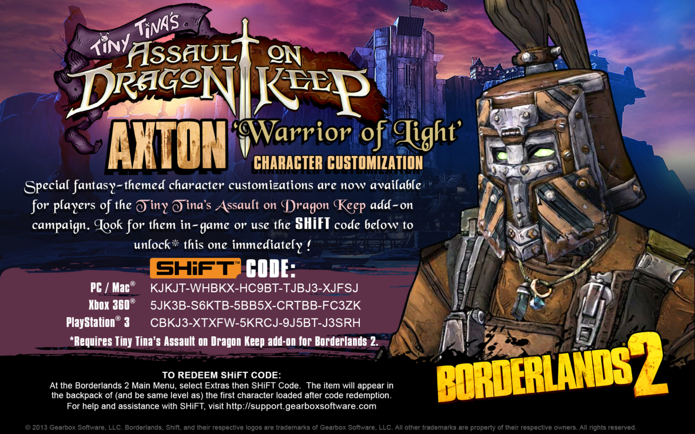 New to Borderlands 2? Here Are 88 Free SHiFT Codes That ... Borderlands 2 Weapon Codes