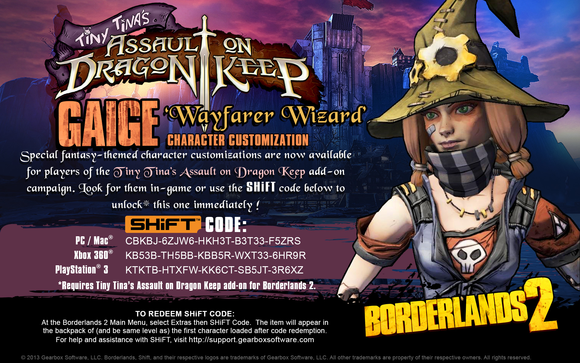borderlands 2 shift codes 2019 wiki