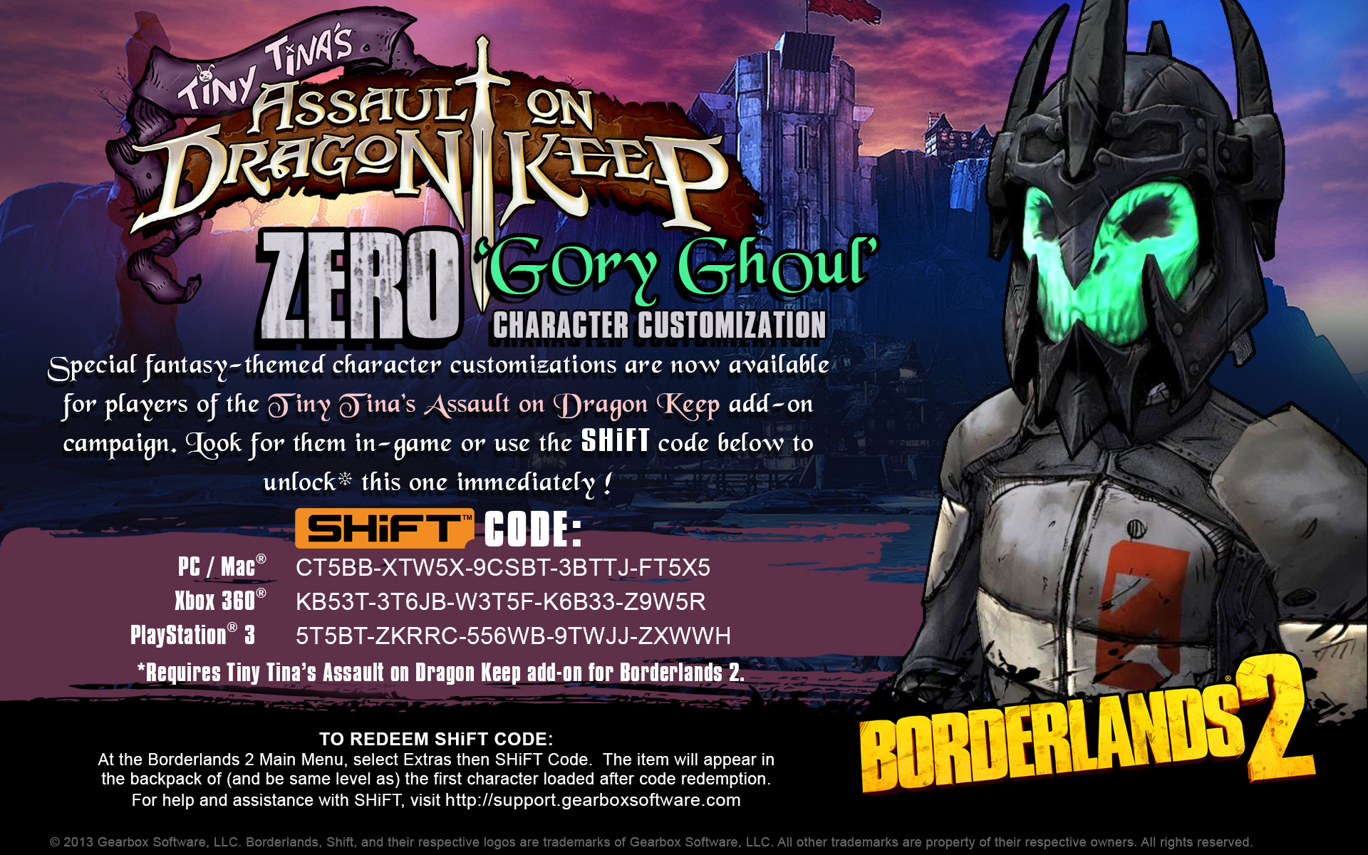 New to Borderlands 2? Here Are 88 Free SHiFT Codes That
