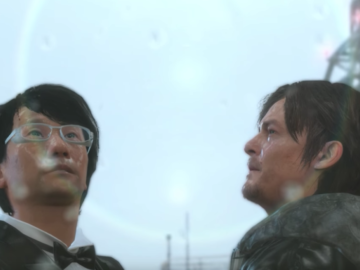 Hilarious MGSV clip of Badass Norman Reedus and Kojima dancing in the rain