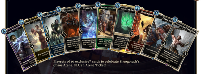 Elder Scrolls: Legends Chaos Arena Special Event Launches Today