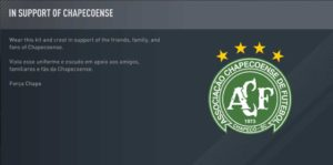 FIFA 17 Pays Their Respects to the Chapecoense Football Club