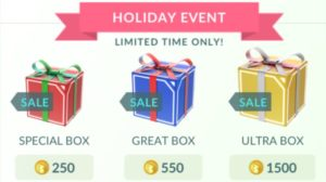 Pokemon Go Is Now Selling Three Special Types of Holiday Boxes