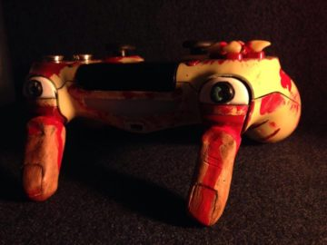 This Custom Blood-Soaked Resident Evil PS4 Controller Isn't for the Faint of Heart