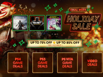 Last Chance To Partake In Sony's PSN Holiday Sale