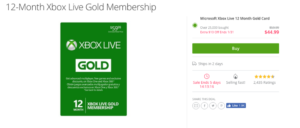25% off a 12 Month Xbox Gold Membership with this Groupon Deal