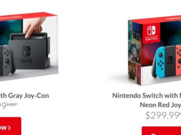Nintendo Switch Comes in 2 Colour Models, Supports Region Unlocked Software