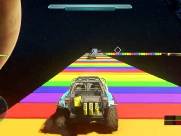 Halo 5 Player Recreates Map of Rainbow Road From Super Mario Kart