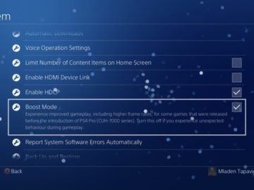 4.5 Update Will Reportedly Add Boost Mode For PS4 Pro