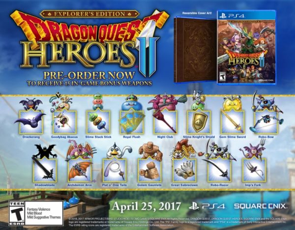 Dragon Quest Heroes 2 Comes to PS4 and PC, Day One Edition Announced