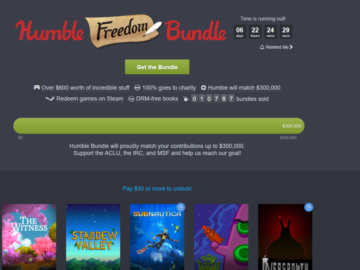Humble Freedom Bundle Now Live
