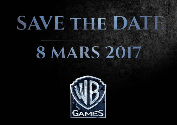 warner bros teases announcement for march font stylized similar to