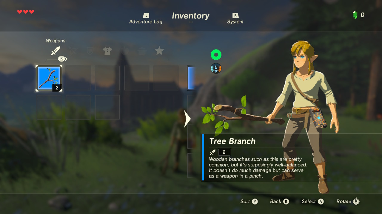 breath of the wild weapons guide