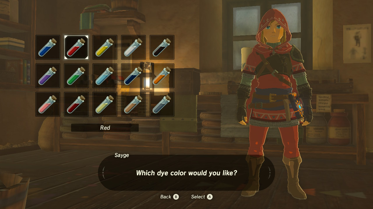 Breath Of The Wild How To Dye Link S Armor