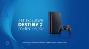 PlayStation 4 Will Have Destiny 2 Timed Exclusive Content