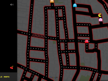 Play Ms. Pac-Man On Google Maps