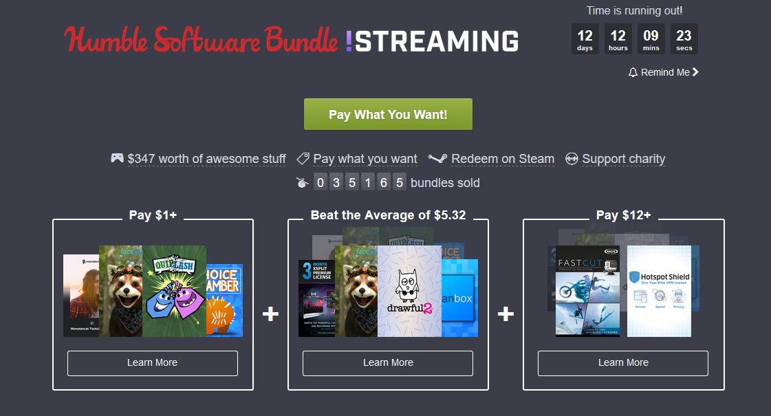 Humble Bundle Update: New Humble Bundle Centered Around Streaming