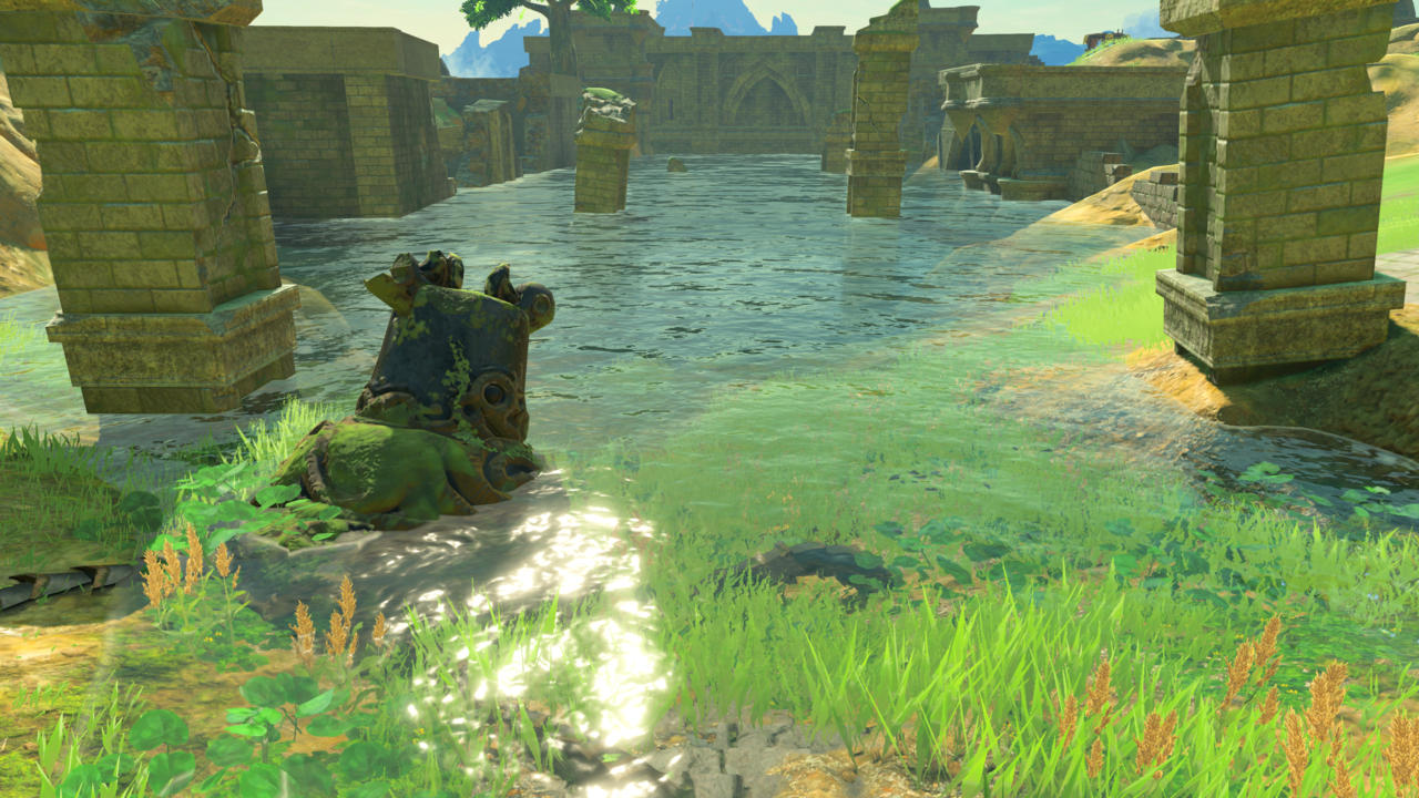 As Early The Great Plateau Of Legend Zelda Breath Wild Players Can Discover That Wrecked Remains Guardians Reward Link With A Random