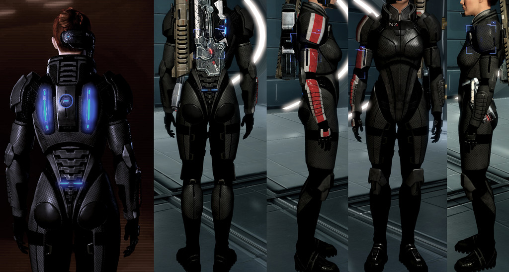 Mass effect andromeda how to get n7 armor original shepard gear to get the right look select pattern 1 and the color to a dark red the rest is all about layering lighter grey over darker grey to totally complete the maxwellsz
