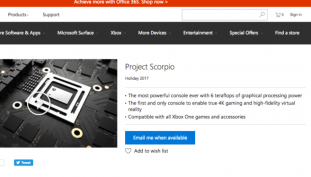 Project Scorpio Now Has an Official Landing Page
