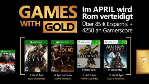 Microsoft Announces Free Games With Gold for April 2017; Ryse: Son of Rome Headlines