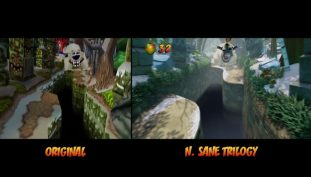Crash Bandicoot N. Sane Trilogy Showcases New Level Comparison