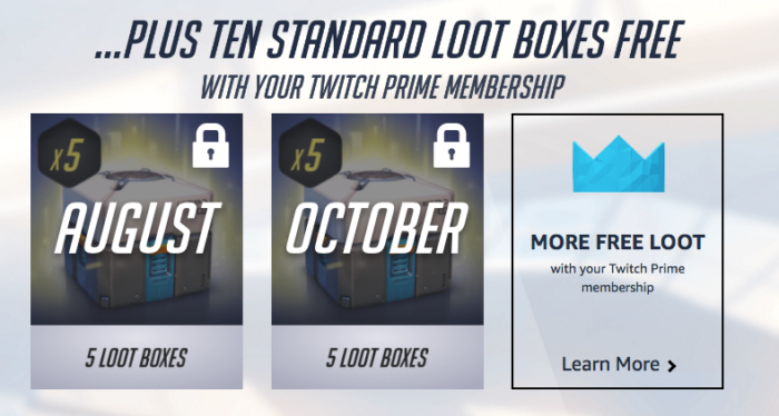 Get Free Legendary Loot For Overwatch Subscribers To Amazon/Twitch