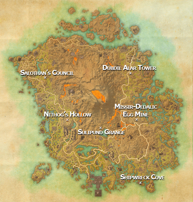 The Elder Scrolls Online: Morrowind All Elite Area and Dungeon Locations