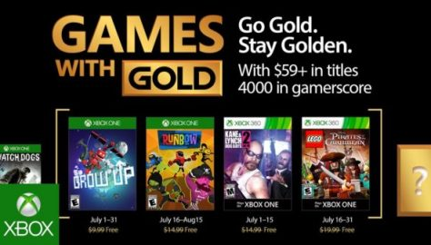games with gold announced, xbox one