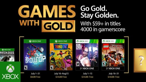 Microsoft Announces Games With Gold for July 2017; Highlights Include Grow Up and LEGO Pirates of the Caribbean