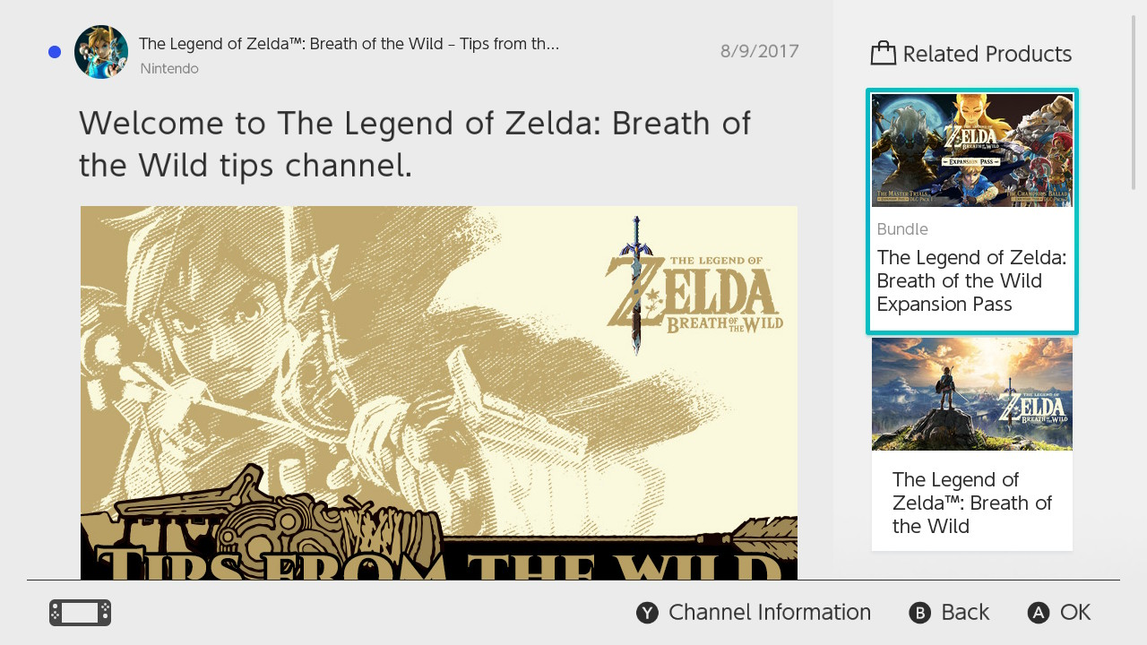 Breath of the Wild: Get Free Items From News Posts   New Feature