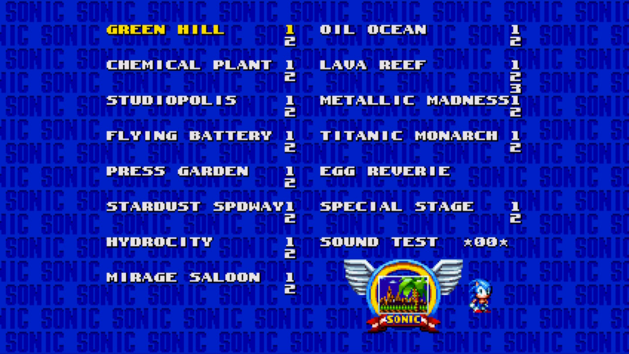 Sonic Mania: How To Access Level Select | Cheat Code List