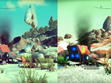 No Man's Sky Original 1.0 vs 1.32 Graphics Comparison PS4
